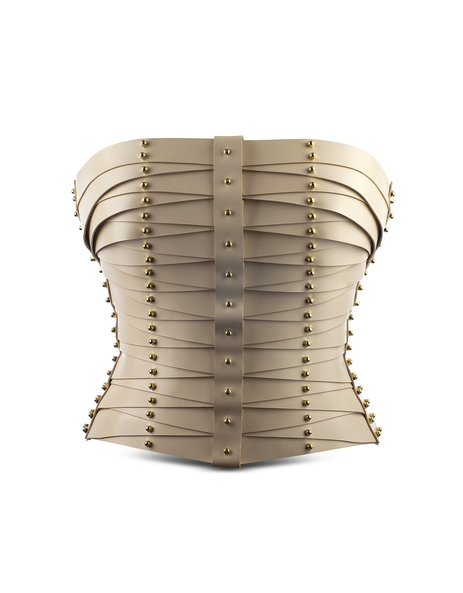 Una Burke Women's Belts, Cream Laced Strapped Bustier