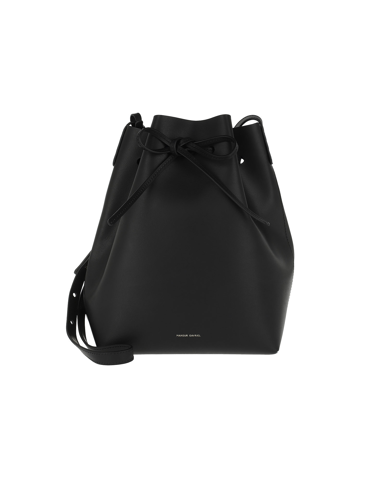 Mansur Gavriel Handbags, Classic Bucket Bag Black/Royal