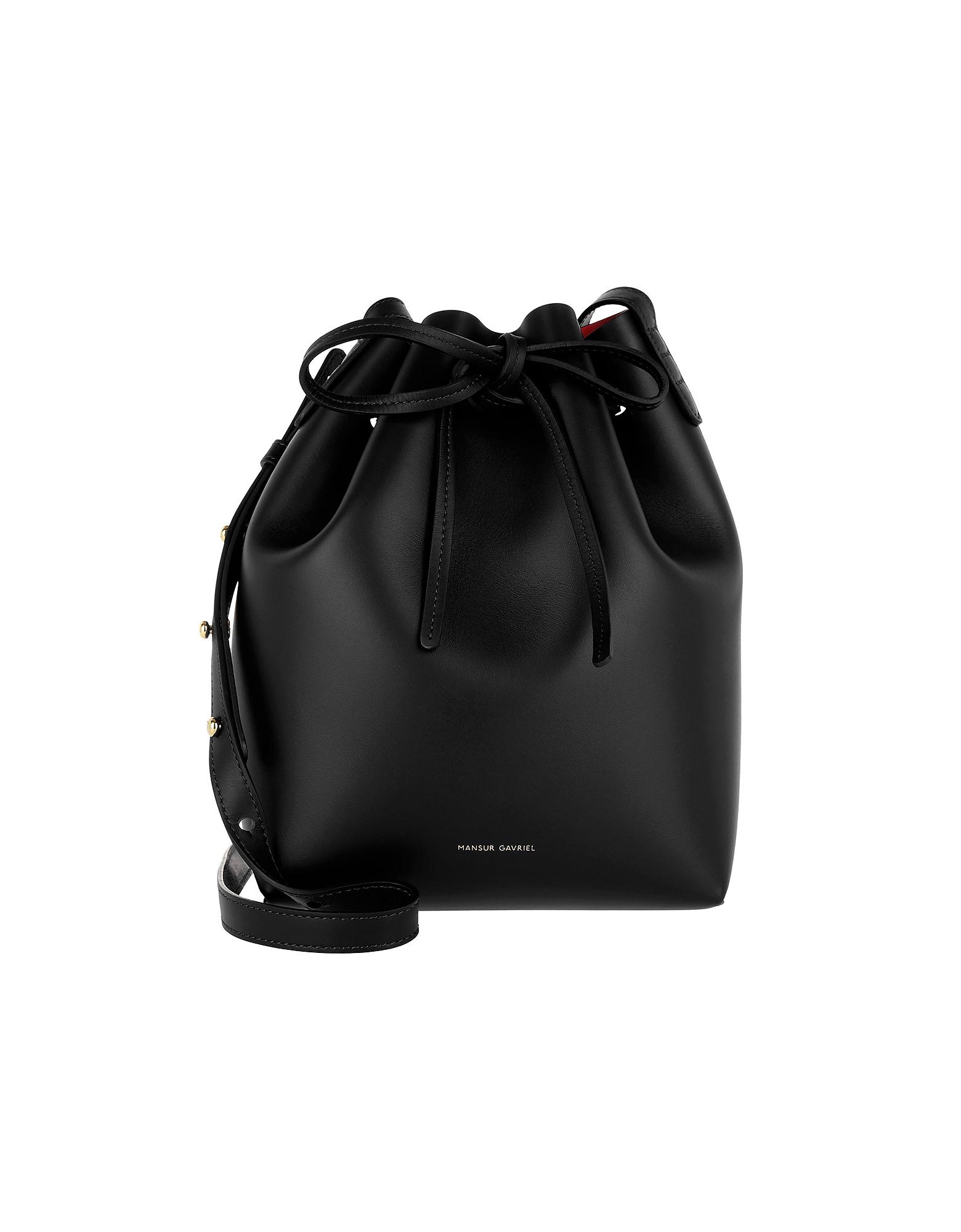 Mansur Gavriel Handbags, Mini Bucket Bag Black Flamma