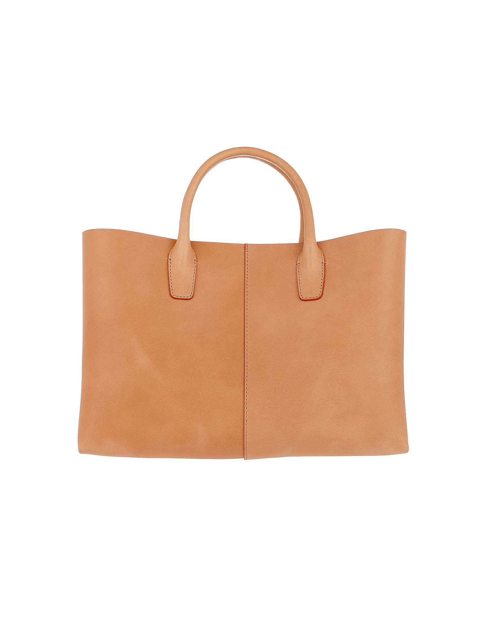 Classic Top Handle Tote Leather Cammello/Rosa