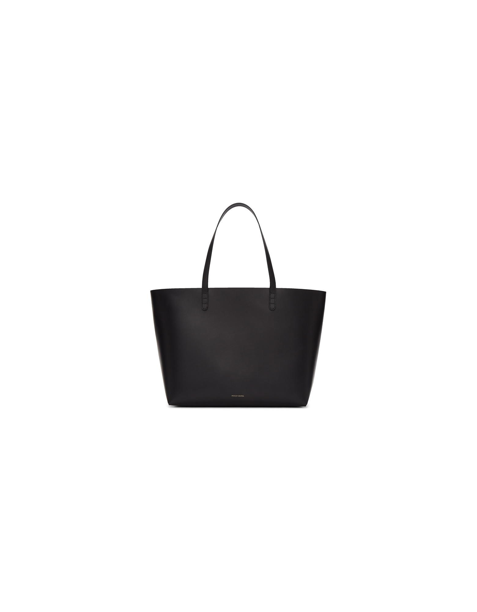 Mansur Gavriel Designer Handbags, Black and Pink Large Tote