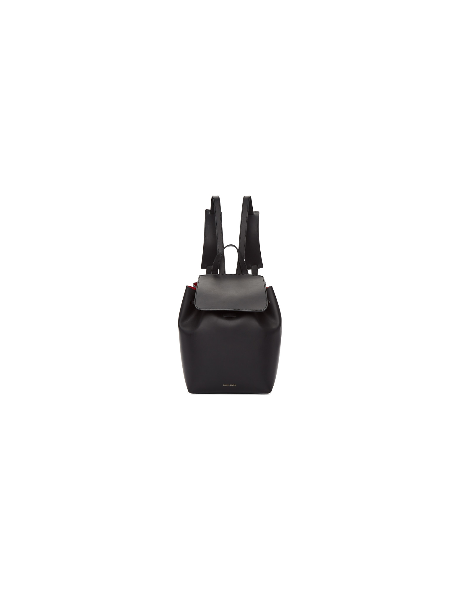 Mansur Gavriel Designer Handbags, Black Mini Backpack
