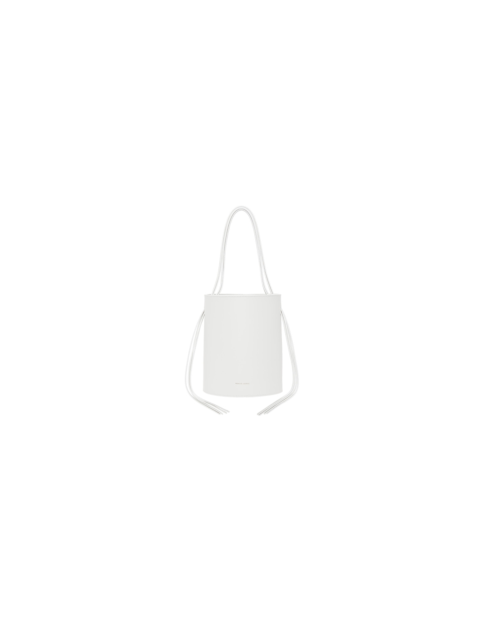 Mansur Gavriel Designer Handbags, White Fringe Bucket Bag