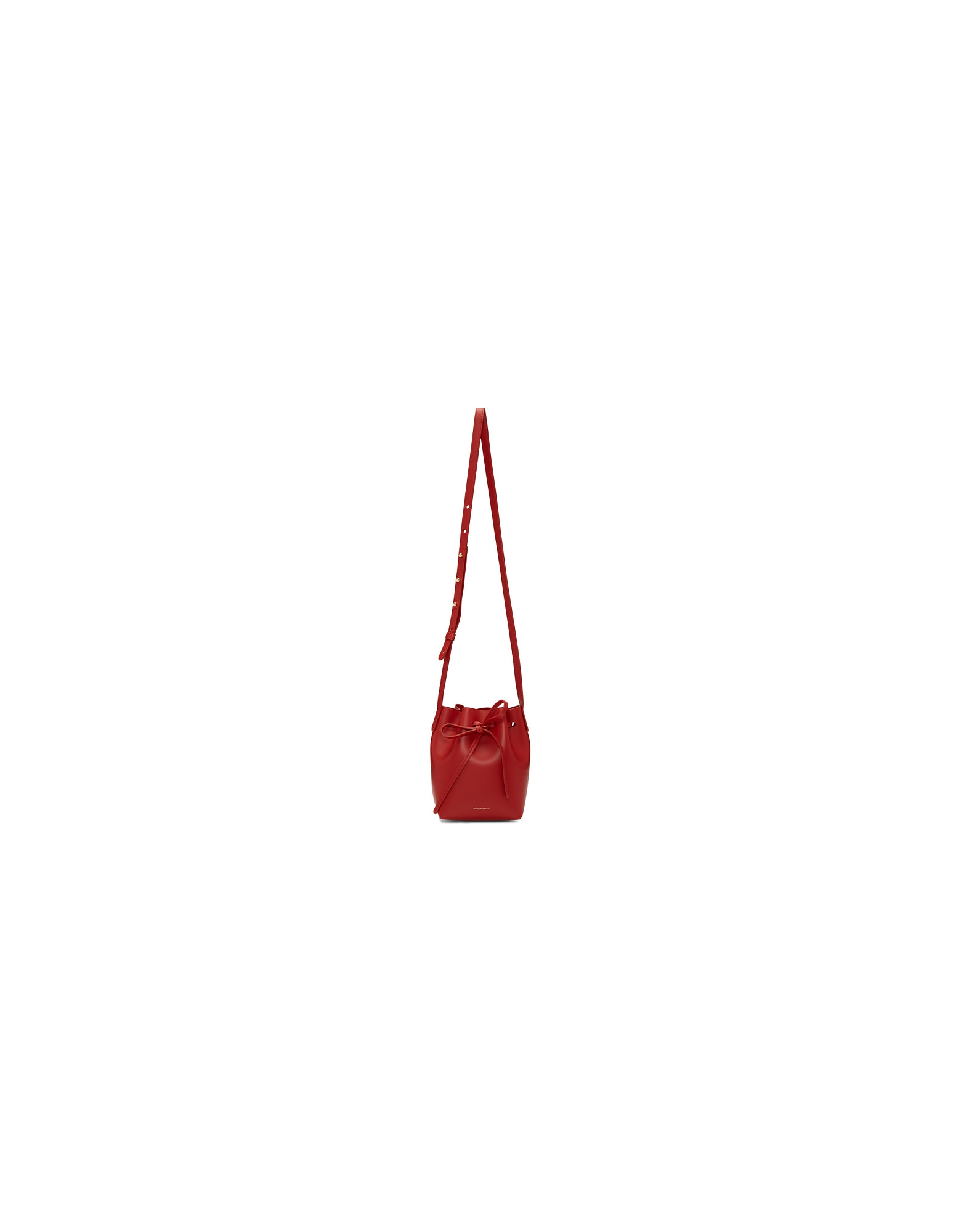 Mansur Gavriel Designer Handbags, Red Mini Mini Bucket Bag