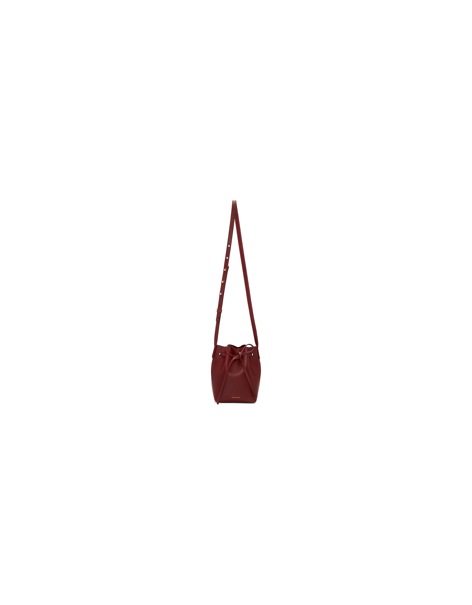 Mansur Gavriel Designer Handbags, Burgundy Mini Mini Bucket Bag