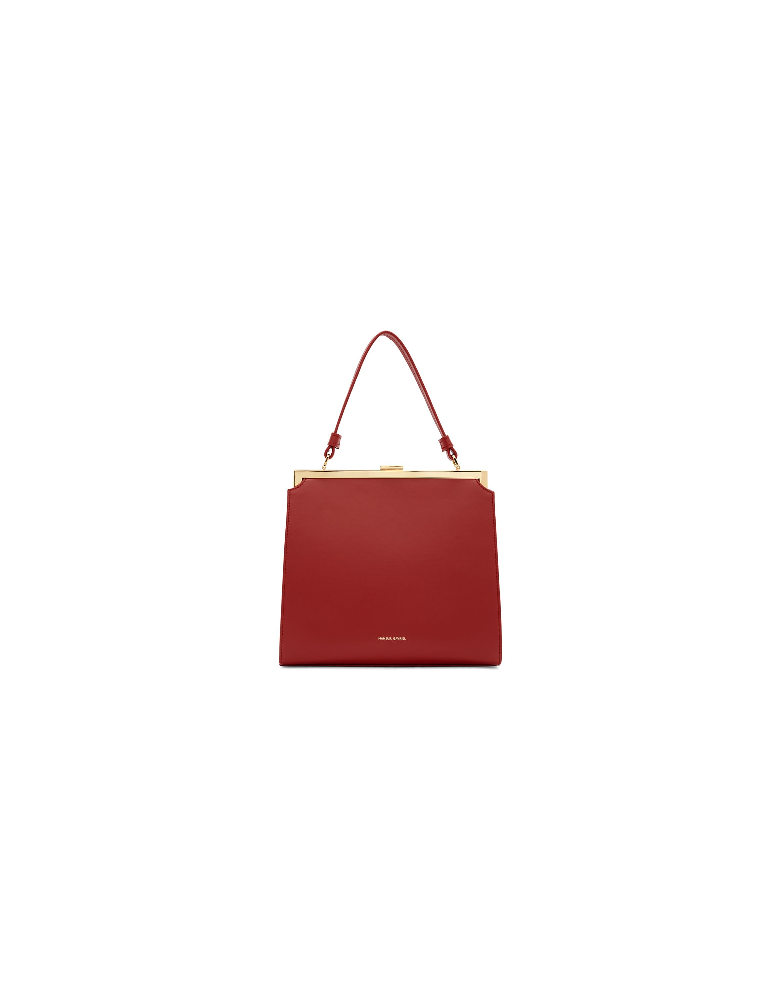 Mansur Gavriel Designer Handbags, Red Elegant Bag