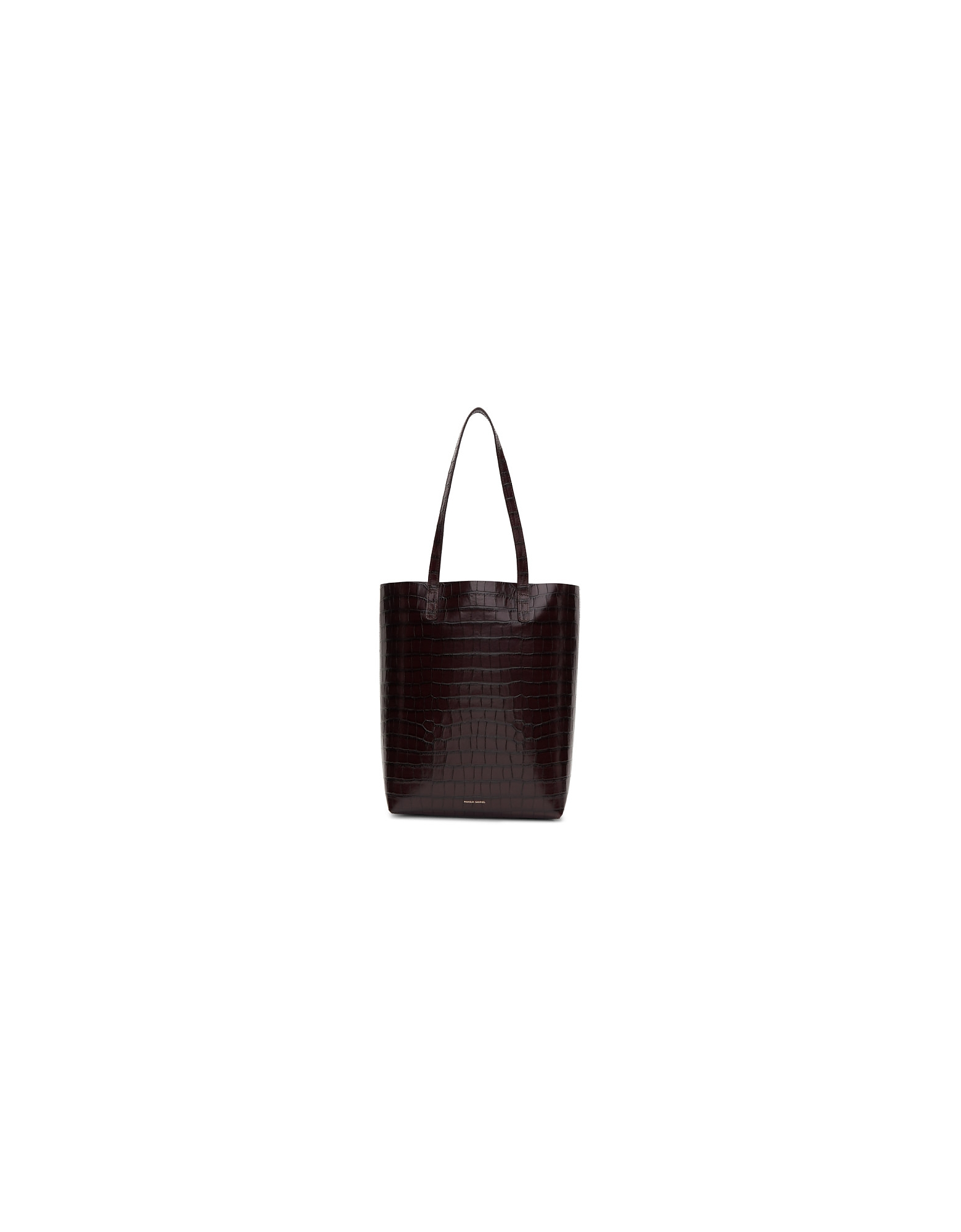 Mansur Gavriel Designer Handbags, Brown Croc Everyday Tote