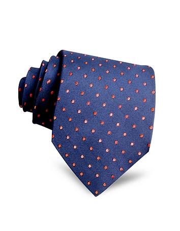Villa Bolgheri - Polkadots Woven Silk Tie