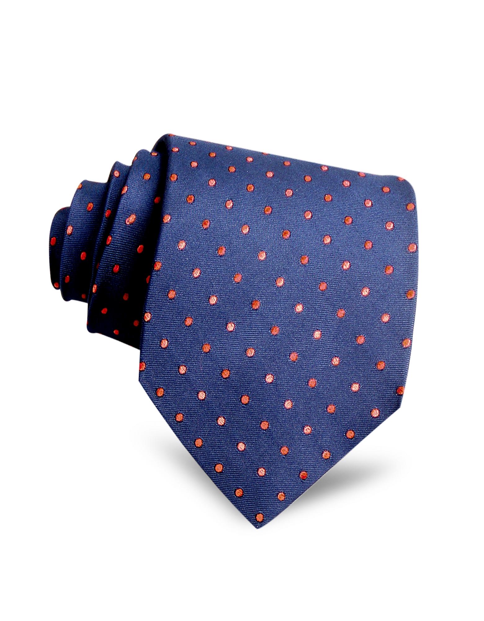 Villa Bolgheri Ties, Polkadots Woven Silk Tie