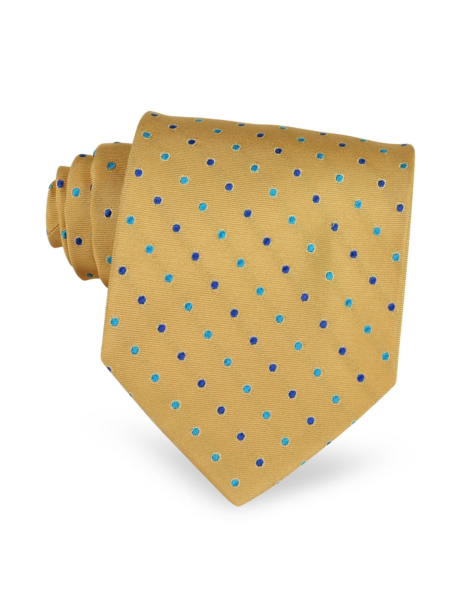 Villa Bolgheri Designer Ties, Polkadots Woven Silk Tie