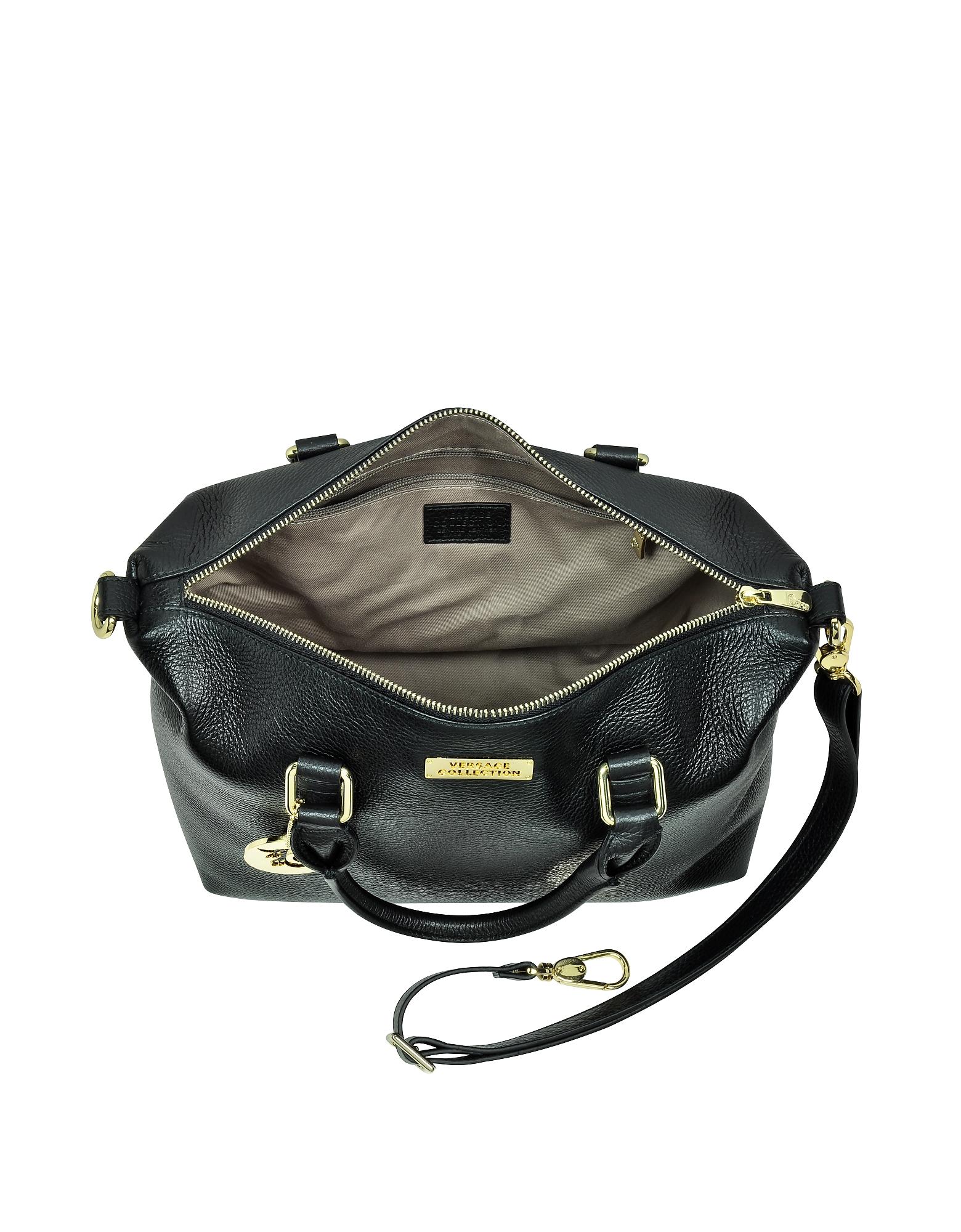 Leather Satchel Bag w/Shoulder Strap от Forzieri.com INT
