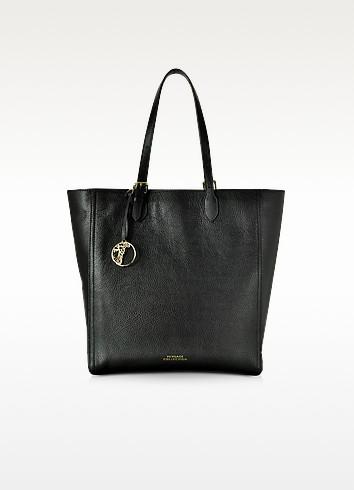 Versace Collection Большая Черная Кожаная Сумка Tote