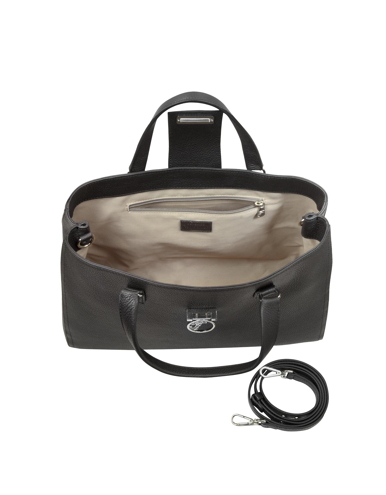 Alce Black Leather Tote от Forzieri.com INT