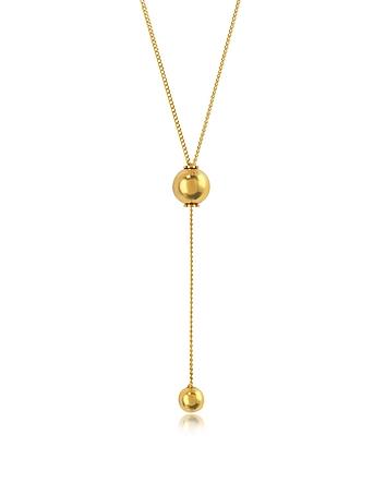Vita Fede - O'hara Gold Tone Drop Lariat Necklace