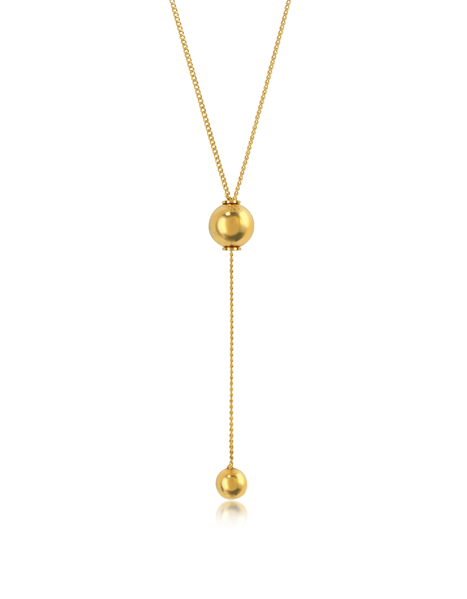 Vita Fede Necklaces, O'hara Gold Tone Drop Lariat Necklace