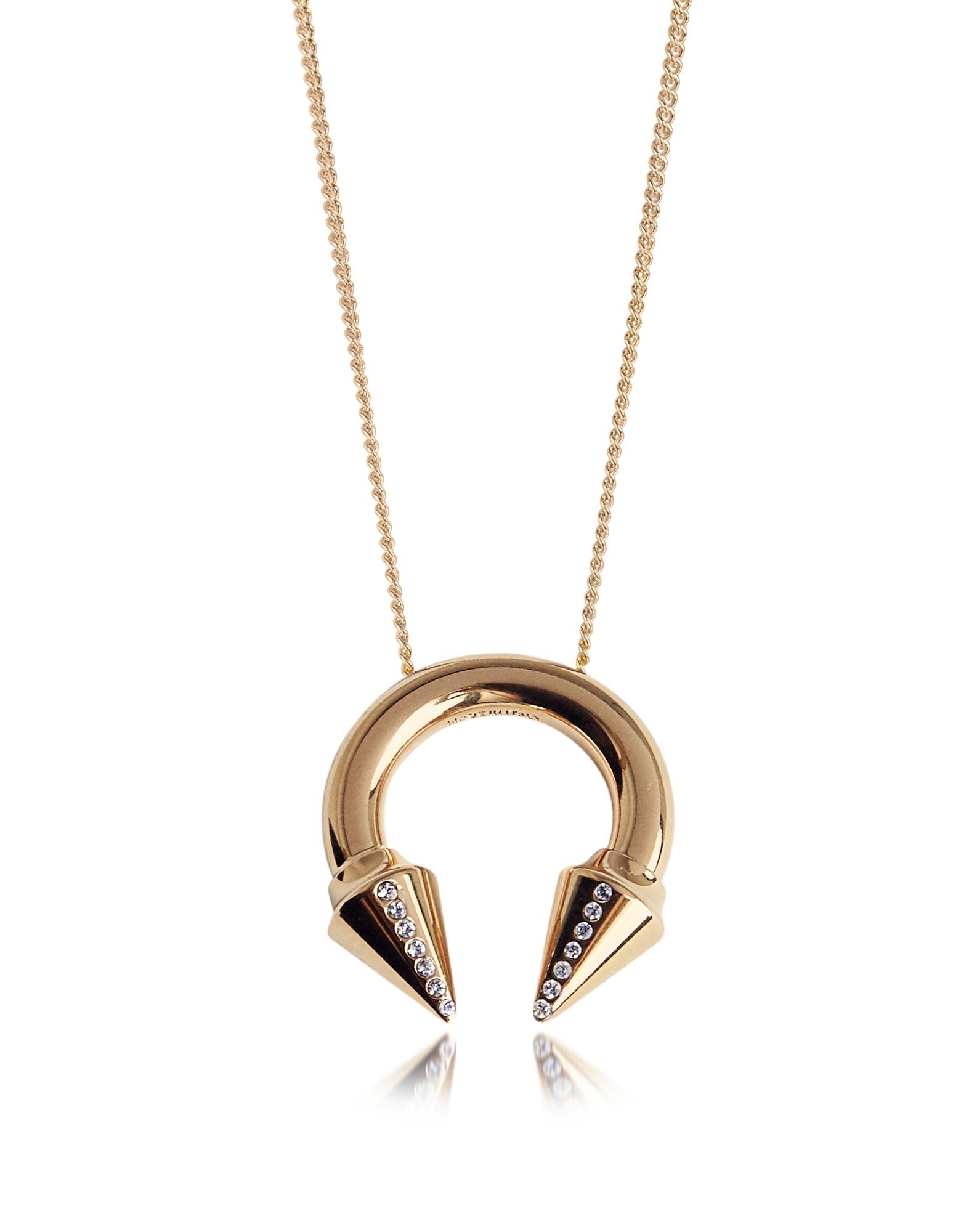 Titan - Ожерелье Оттенка Розового Золота с Кристаллами