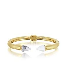Gold Plated Mini Titan Stone Bracelet w/White Howlite - Vita Fede