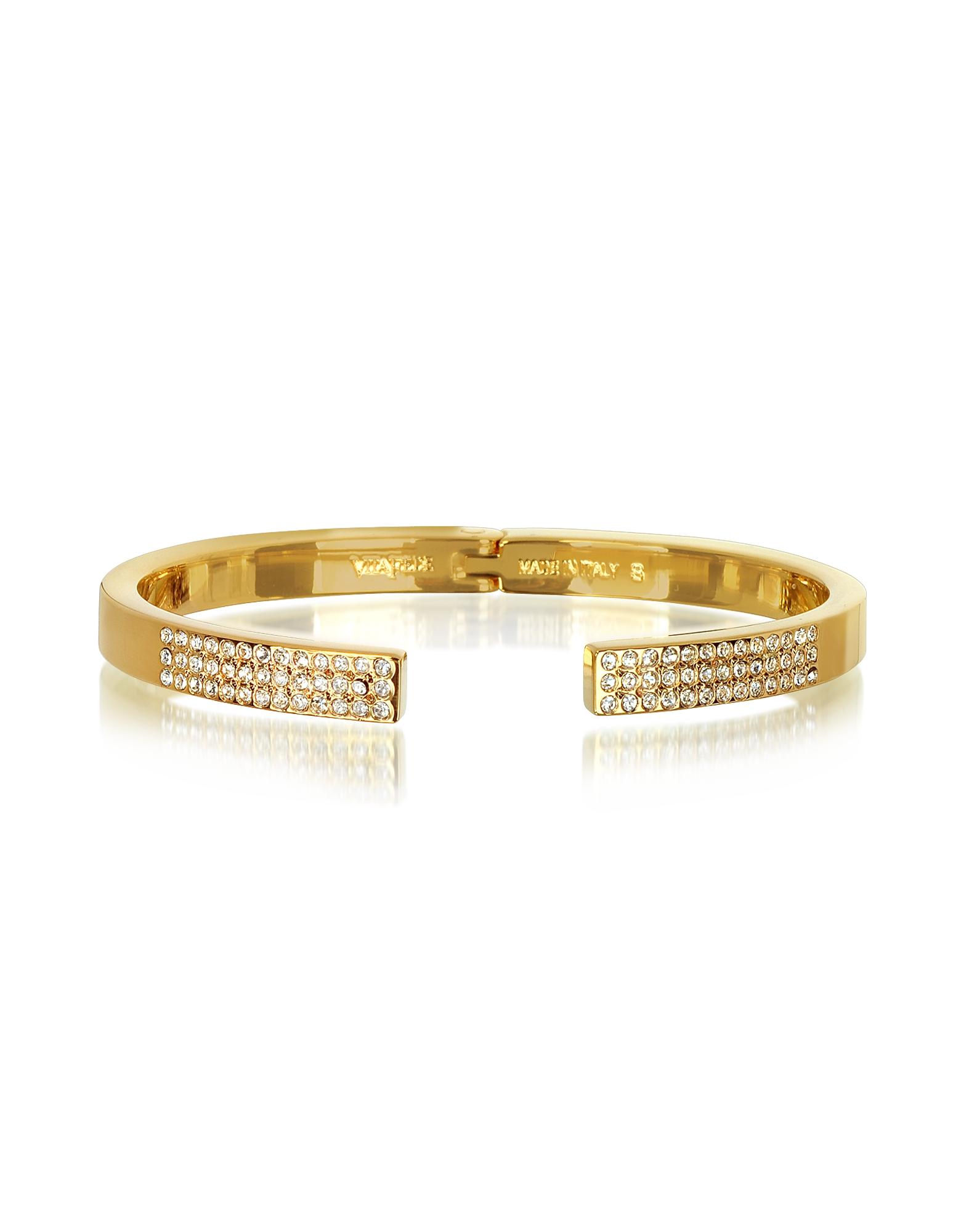 Vita Fede Diviso Gold Tone Crystal Bracelet