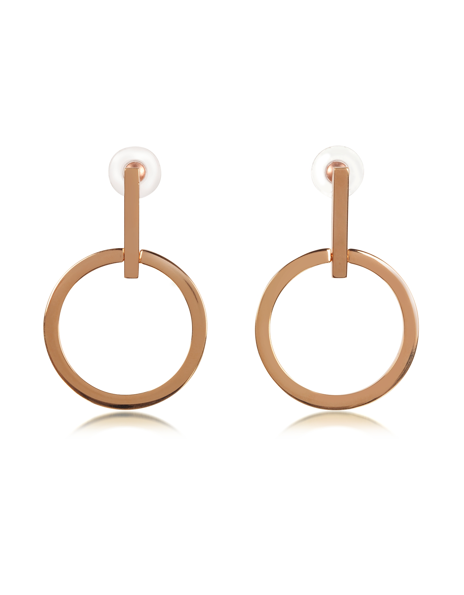 Vita Fede Designer Earrings, Antonia Rose Gold Tone Hoop Earrings