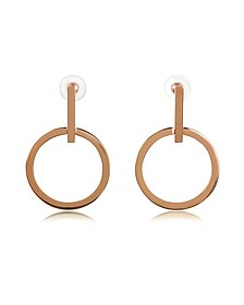 Antonia Rose Gold Tone Hoop Earrings - Vita Fede