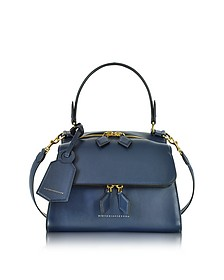 Navy Blue Mini Full Moon Bag - Victoria Beckham