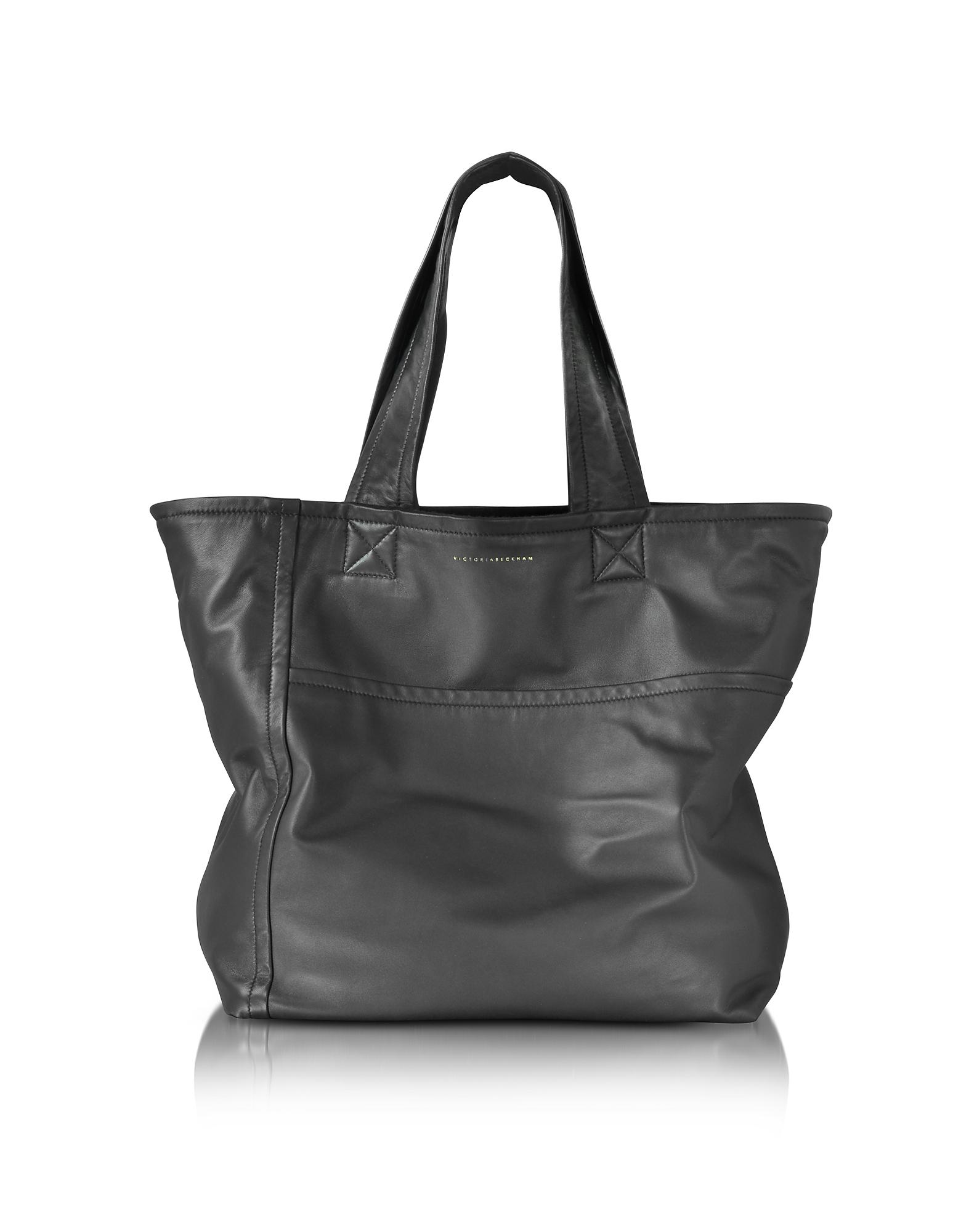 Victoria Beckham Sunday Bag - Черная Сумка из Кожи Наппа