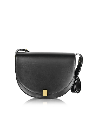 Victoria Beckham - Half Moon Box Leather Shoulder Bag