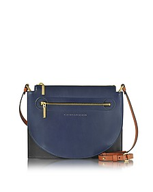 Color Block Leather Moon Light Crossbody Bag - Victoria Beckham