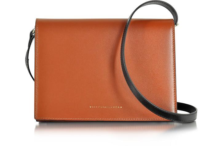 Sienna and Navy Colorblock Leather Star Shoulder Bag - Victoria Beckham