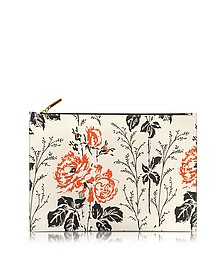 Simple Pouch Large Pochette a Fiori in Pelle - Victoria Beckham