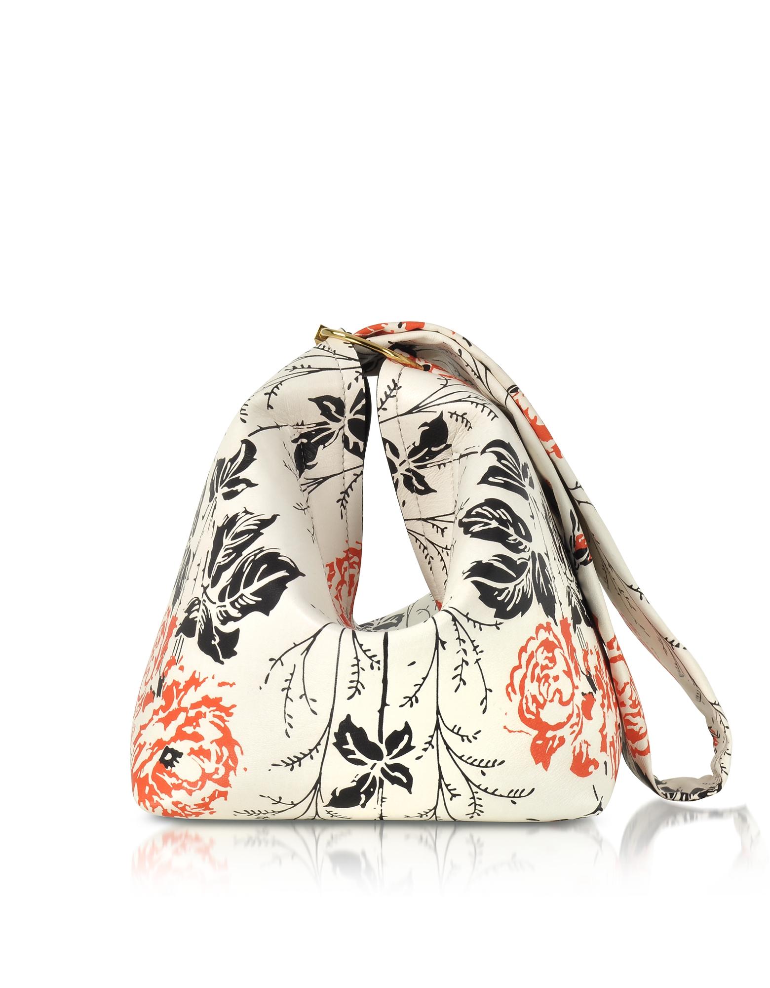 Фото Tissue Bag - Кожаная Сумка с Принтом Цветов. Купить с доставкой