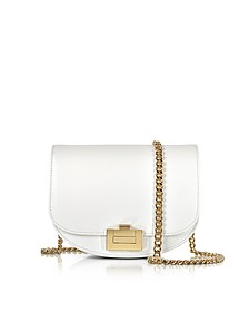 Box With Chain Schultertasche aus Leder in optic weiß - Victoria Beckham