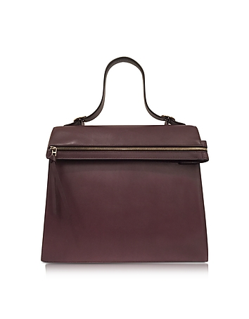 Topaz Burgundy Leather Handbag