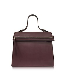 Topaz Burgundy Leather Handbag - Victoria Beckham