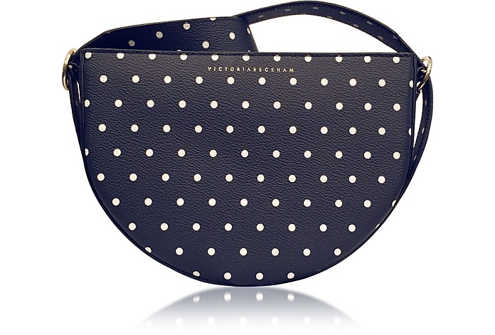 Baby Half Moon Dots Navy Bag  - Victoria Beckham