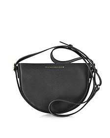 Black Embossed Leather Baby Half Moon Bag - Victoria Beckham