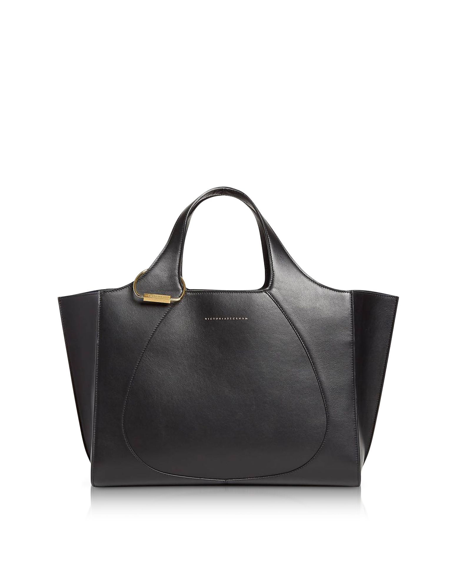 Victoria Beckham Handbags, Black Leather Newspaper Tote Bag