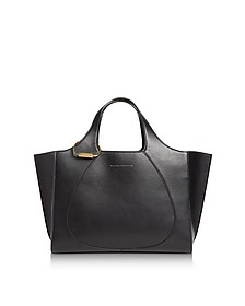 Black Leather Newspaper Tote Bag - Victoria Beckham