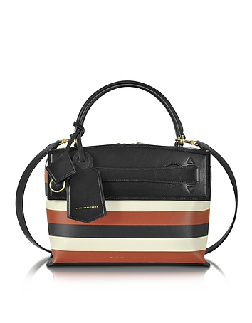 Victoria Beckham - Multicolor Striped Leather Small Picnic Bag