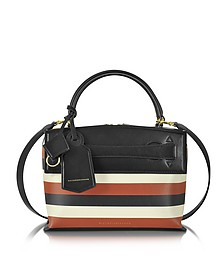 Multicolor Striped Leather Small Picnic Bag - Victoria Beckham
