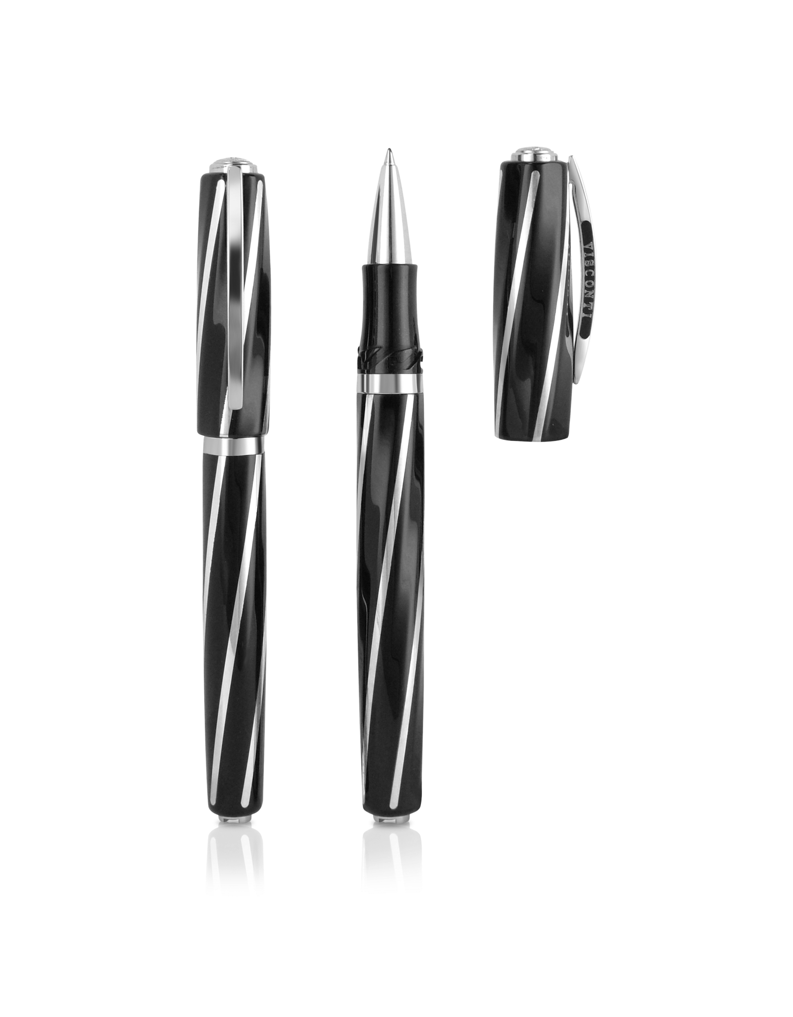 Image of Divina - Lucite and Sterling Silver Roller Pen