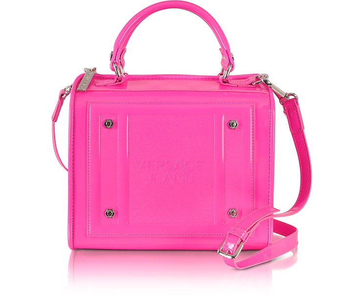Fluo Pink Patent Eco Leather Satchel - Versace Jeans