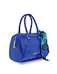 Ocean Blue Eco leather Satchel w/Scarf - Versace Jeans