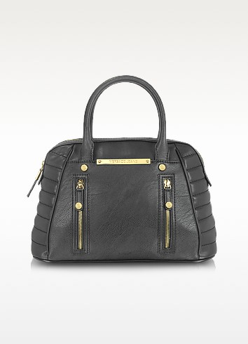 Black Eco Leather Bowler Bag - Versace Jeans