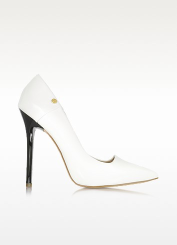 White Patent Eco Leather Pump - Versace Jeans