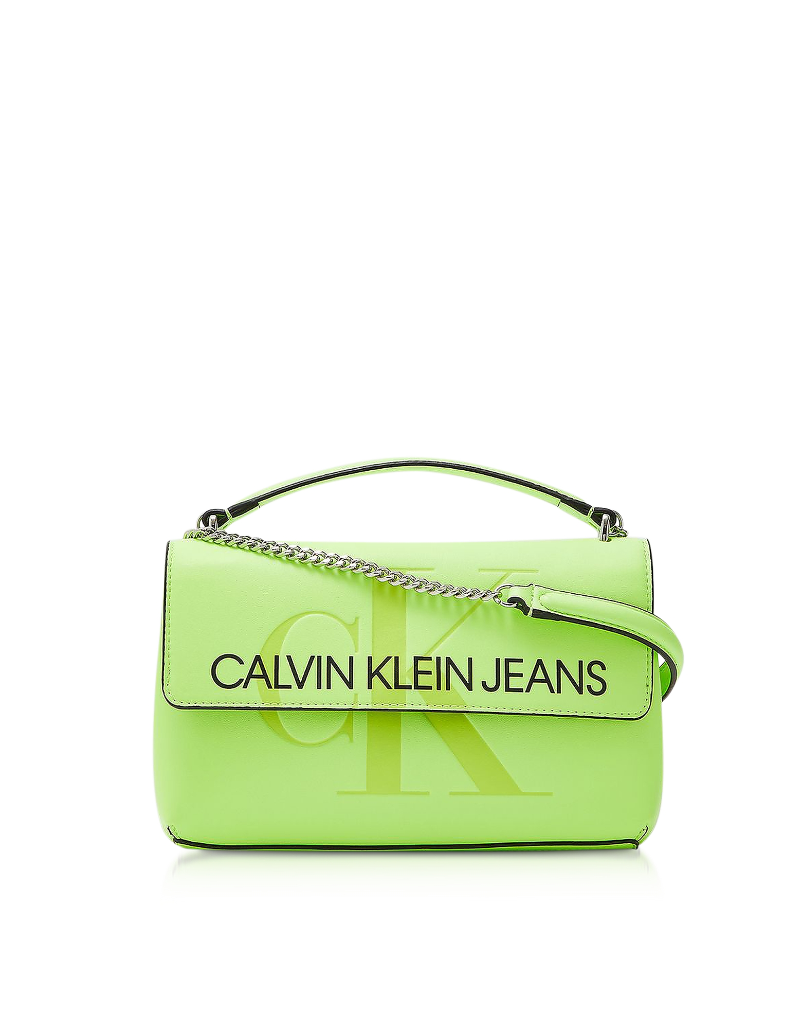 Calvin Klein Collection  Handbags Sculpted Monogram Crossbody Bag w/ Signature Flap