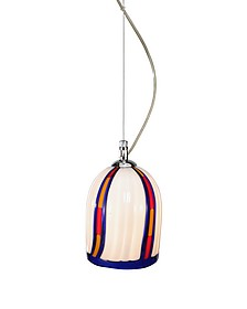 Candy - Cream Murano Handmade Glass Pendant Lamp  - Voltolina