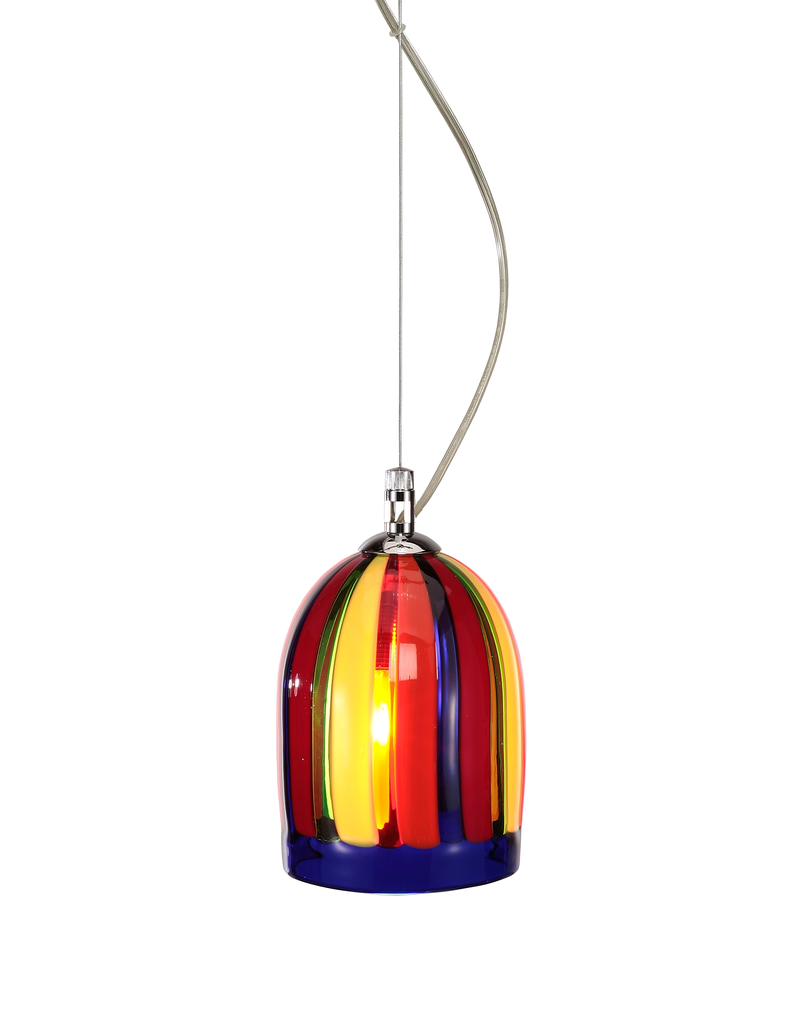 Voltolina Designer Decor & Lighting, Eleganza - Multicolor Murano Handmade Glass Pendant Lamp