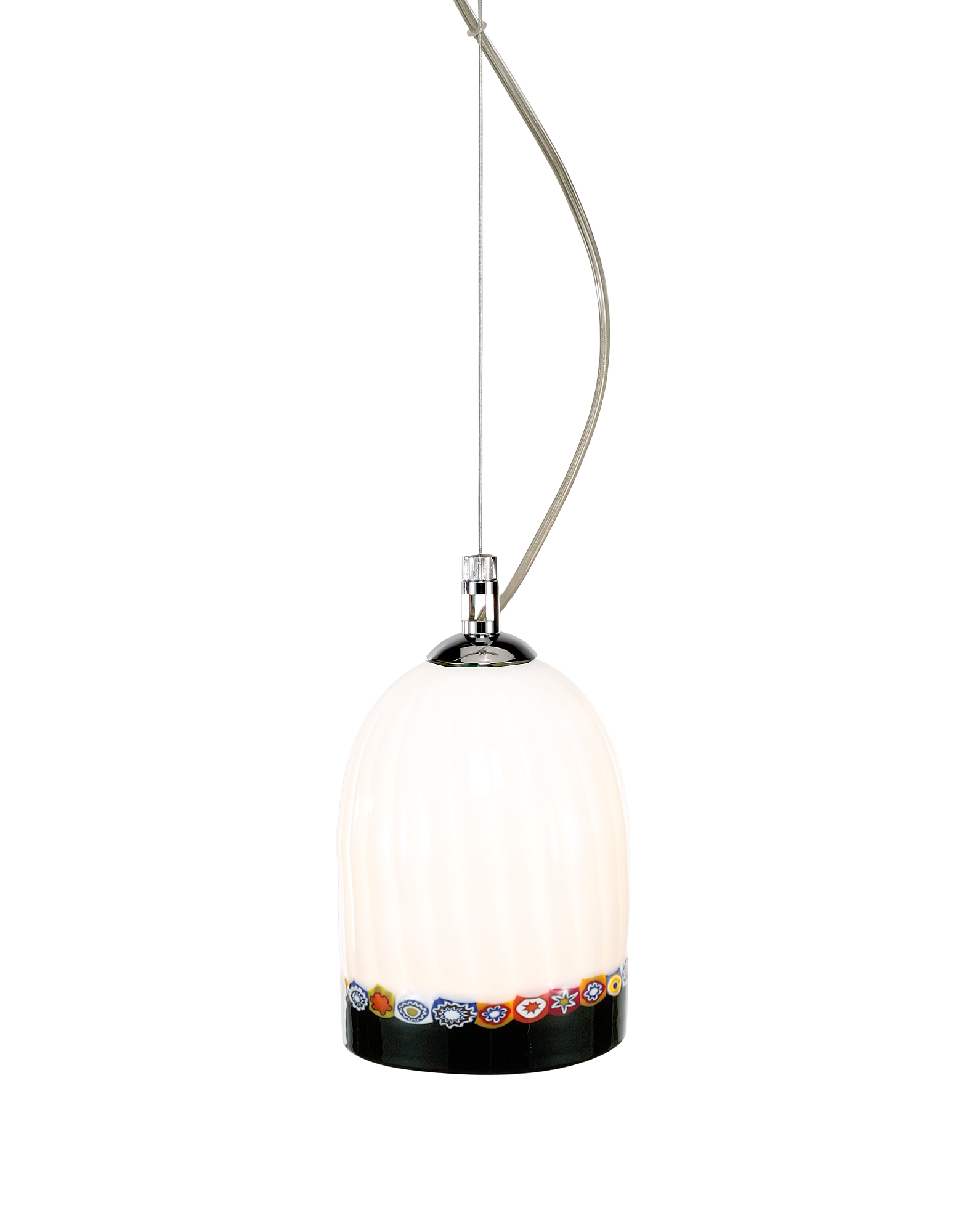 Voltolina Designer Decor & Lighting, Greca - Cream Murano Handmade Glass Pendant Lamp