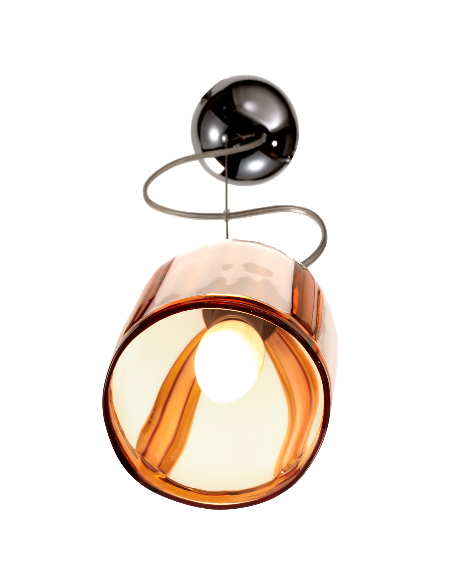 Bamboo - Cream and Amber Murano Handmade Glass Pendant Lamp от Forzieri.com INT